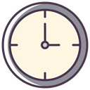 Clock, time, meeting, Schedule, watch, Appointment, clock face OldLace icon