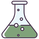 science, chemical, flask, liquid DarkSeaGreen icon