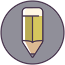 pencil, Drawing, Draw, Edit, write, editor, graphic LightSlateGray icon