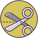 shears, Cut, scissor, craft, trim, scissors, cutter DarkKhaki icon