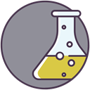flask, liquid, science, chemical LightSlateGray icon