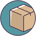 package, order, Box, parcel, postage, Shop, post CadetBlue icon