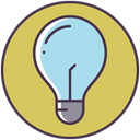bulb, new idea, Check, Light bulb, Electric, good idea DarkKhaki icon