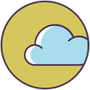 Data, weather, Server, data base, Cloud, Database, forecast DarkKhaki icon