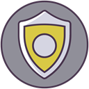 Firewall, safety, shield, Protection, secure, security, protect LightSlateGray icon