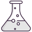 chemical, science, liquid, flask Gainsboro icon