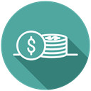 Coins, Money, transaction, shopping, payment, Purchase CadetBlue icon