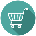 shopping, Purchase, Cart, Shop, shopping trolleys, shopping cart, Basket CadetBlue icon
