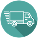 Delivery, truck, fast delivery, speed, transport, Lorry, transportation CadetBlue icon