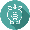 Cash, savings, Coins, saving account, piggy bank CadetBlue icon