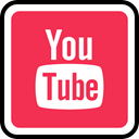 youtube, Social, media, online Crimson icon