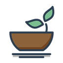 Eat, food, health, Leaf, vegeterian, healthy, resolutions Black icon