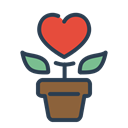 grow, resolutions, love, without regret, romance, loving, Flower Black icon