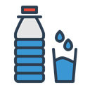 water, resolutions, drink, Aqua, Bottle, glass, drop Black icon