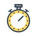 time, productivity, stopwatch, resolutions, Activity, timer, progress Black icon