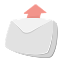 sent, mail, Email, envelope, outgoing, arrow up, send Gainsboro icon