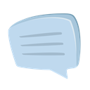 feedback, Text, message bubble, Communication, Chat, customer service, support PowderBlue icon
