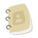 notepad, customer service, support, contact book, contact up, profile, Address PaleGoldenrod icon