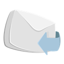 mail, reply, Arrow, Forward, Email, envelope, Letter Gainsboro icon