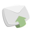 mail, inbox, recieved, arrow up, Email, envelope, Letter Gainsboro icon