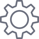 Action, Gear, Cog, preferences, Service, Options, settings DimGray icon