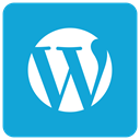 wp icon, Wordpress DarkTurquoise icon