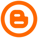 Blogger icon OrangeRed icon