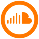 soundcloud icon, sound, Cloud DarkOrange icon