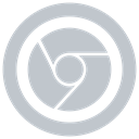 Google icon, chrome Silver icon