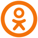 ok icon, Odnoklassniki DarkOrange icon