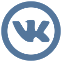 Vk, vkontakte icon SteelBlue icon