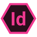 Extension, Indesign, Format, adobe Black icon