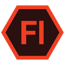 Extension, adobe, flash professional, Format Black icon
