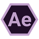 Format, adobe, after effects, Extension Black icon