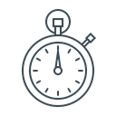 performance, speed, time management, timer, time, stopwatch Black icon
