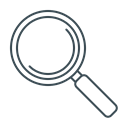Magnifier, magnifying, search, seo, zoom Black icon