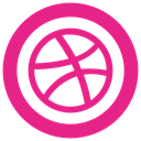 Ball, dribbble DeepPink icon
