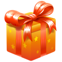 Bonus, gift, present, Ribbon Black icon