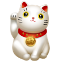 Clients, kitty, Cat, maneki neko, Traffic Black icon