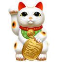 hello, japan, icojam, Cat, maneki neko, Clients Black icon