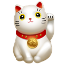 Clients, maneki neko, Cat, kitty, hello, maneki, icojam Black icon