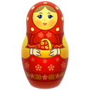 russia, Toy, matrioshka, matreshka, icojam, doll, mother Black icon