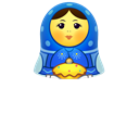 matreshka, Toy, mother, open, matrioshka, Girl, woman Black icon