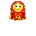 woman, open, matrioshka, matreshka, Toy, mother, doll Black icon