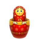 matrioshka, russia, inside, open, mother, nesting, matreshka Black icon