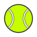 squash, racquet, sport, tennis, tênis, Court GreenYellow icon