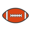 futebol americano, touchdown, Football, soccer, American football, tackle Black icon