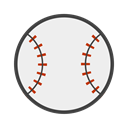 Strike, beisebol, bat, baseball, baseball bat WhiteSmoke icon