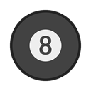 sport, snooker, Eight, bola, sinuca, balls DarkSlateGray icon