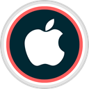 Social, online, media, Apple Black icon